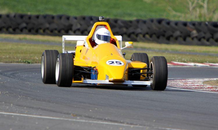Jennifer Mullan racing a Formula Sheane at Bishopscourt 13-5-12